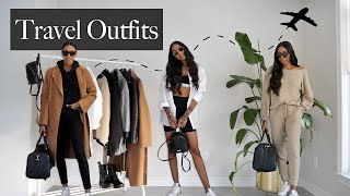 6 Stylish And Comfy Airport Outfits!!