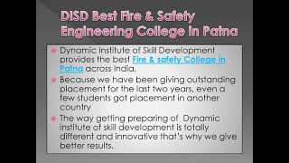DISD Safety Engineering College in Patna at Affordable Fee