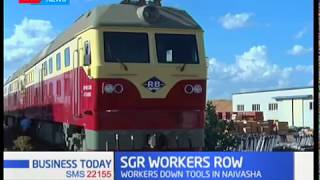 SGR workers down tools in Naivasha over lack of protective gears