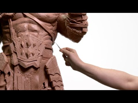 sculpture giant monster using clay by jazza