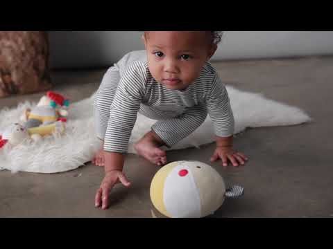 Youtube Video for Organic Soft Chime Ball - Bunny