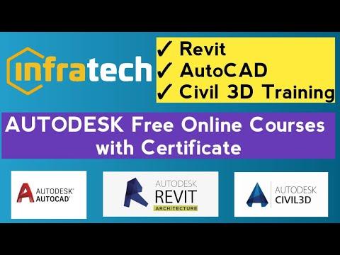 Autodesk AutoCAD Revit Civil 3D Free Courses with Certificate ...