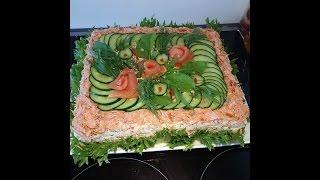 Скандинавский рыбный торт