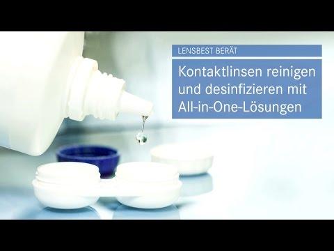 Kontaktlinsen reinigen und desinfizieren mit All-in-One-Lösungen - Tipps von Lensbest