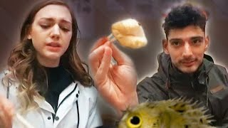 Trying Poison Blow Fish in Japan | Fugu Restaurant