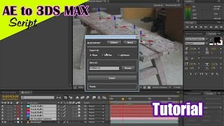 01. After Effects 3d Camera to 3ds Max VFX tutorial