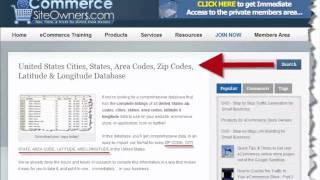 Area Codes Database