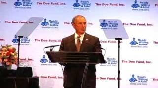 Mayor Michael Bloomberg Speaks at The Doe Fund's 2009 Gala