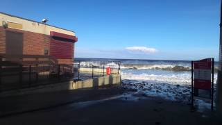 preview picture of video 'Boardwalk Cafe Whitley Bay -Steps Here ?.. Coast Regen Council Plans Boardwalk Replacement'