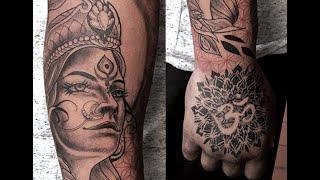 Tattoo Timelapse - Neo Traditional Style - Hindu Goddess Parvati Tattoo With Process Walkthrough
