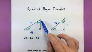 Trigonometry - Special Triangles