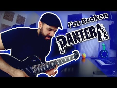 Pantera - I'm Broken guitar play through with solo