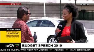 Expectations : Budget Speech 2019
