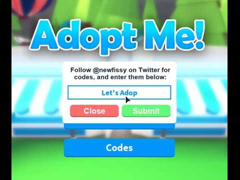 Roblox adopt me codes 2019 list   Roblox Adopt Me Codes