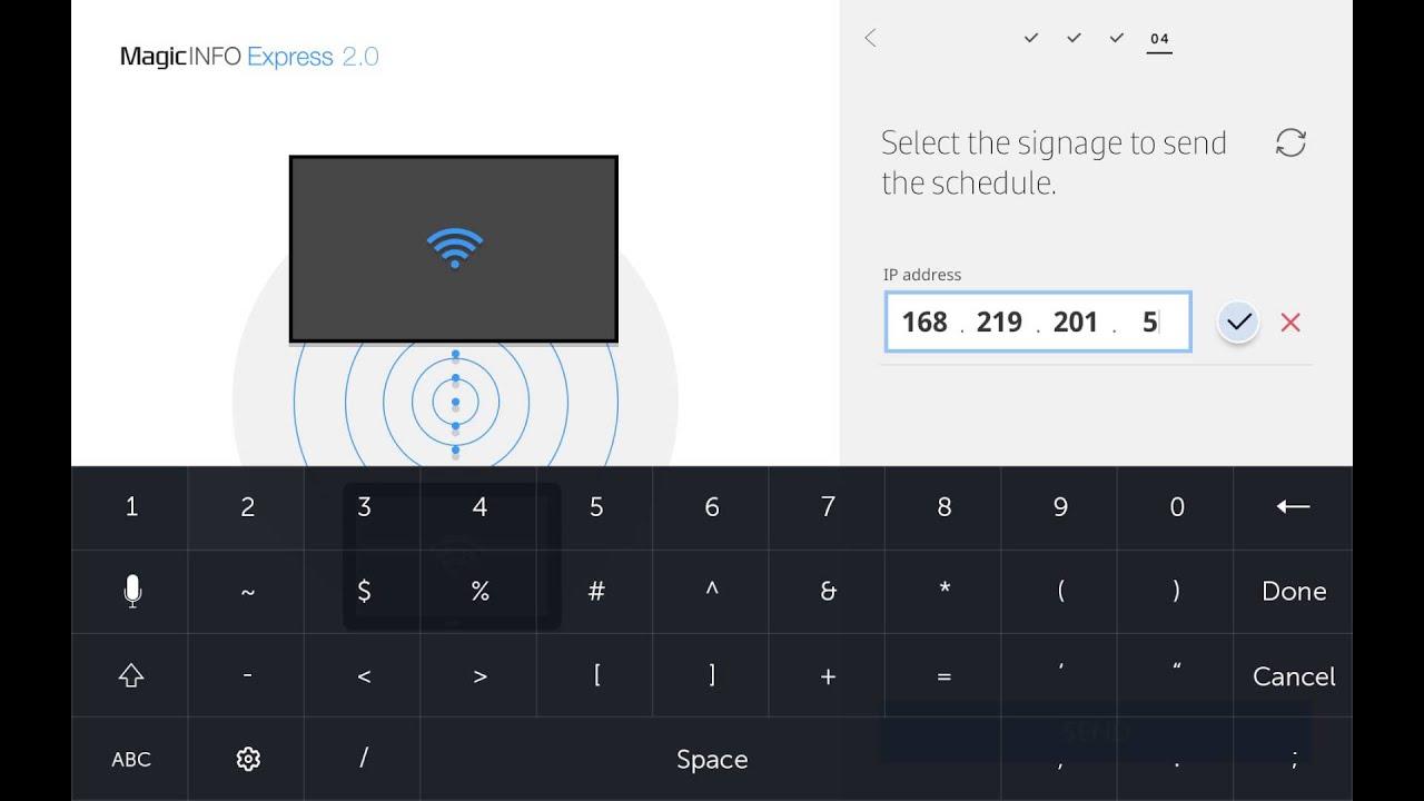 Samsung SMART Signage TV - Tablet App Tutorial #4 thumbnail