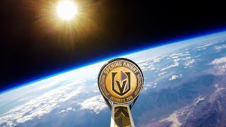HOCKEY PUCK IN SPACE with NHL's Vegas Golden Knights