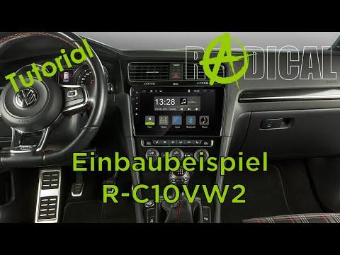 Android Autoradio für Golf 7 Einbaubeispiel R-C10VW2