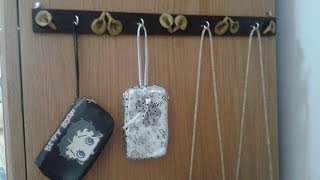 DIY Crafts - Home Decor - How To Make Decorative Wall Hooks With Ceramic Paste ! + Tutorial .