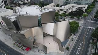 Los Angeles Via Drone - Walt Disney Concert Hall (Frank Gehry)
