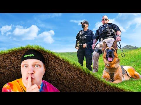 Hiding UNDERGROUND From POLICE! HIDE & SEEK Challenge
