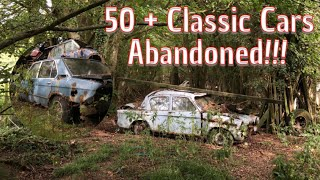 We explore a huge collection of abandoned Classic car's (Never Explored by anyone else!!)
