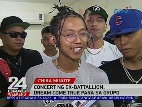 [GMA]  24 Oras: Concert ng Ex-Battalion, dream come true para sa grupo
