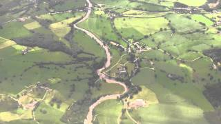 Flight over West Yorkshire and Landing at Leeds Bradford Airport - June 2011