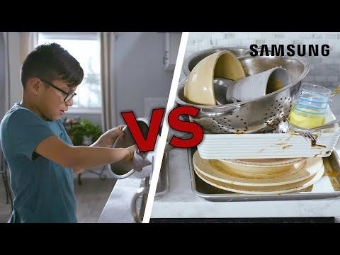 Kids Vs. Machines: Dishwasher // Presented By Samsung Appliances