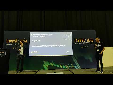 CoinGecko is Live featuring Crypto.com in Changelog at Invest Asia 2019