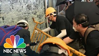 Protesters Storm Hong Kong Government Headquarters On Anniversary Of Chinese Handover | NBC News