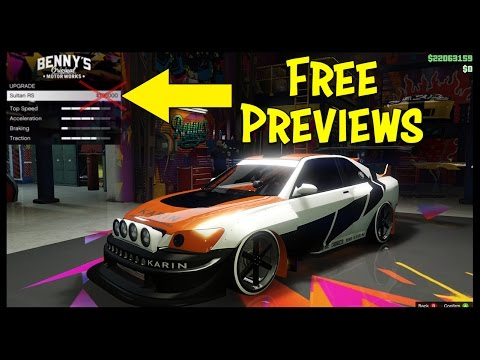 How To Preview All Benny's Customization For Free On Any Car In GTA Online!