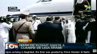 preview picture of video 'Emir of Kuwait travels to Iraq for Arab League summit'