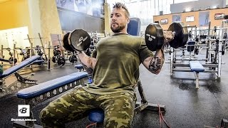 Arm Blasting Resistance Band Workout | Day 10 | Kris Gethin's 8-Week Hardcore Training Program by Bodybuilding.com