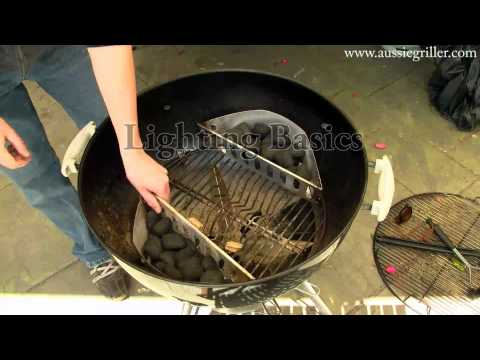How to – Charcoal Kettle Barbecue Basics – No Recipe
