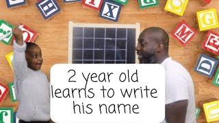 How To Teach Toddler To Write Their Name Easily   Toddler Handwriting Tutorial 2019