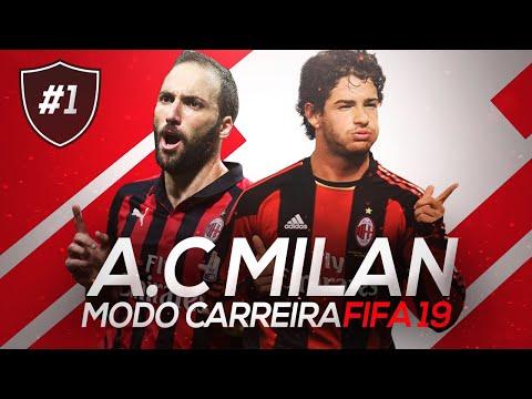 PATO VOLTOU PRO MILAN! O INÍCIO   FIFA 19 MODO CARREIRA #01