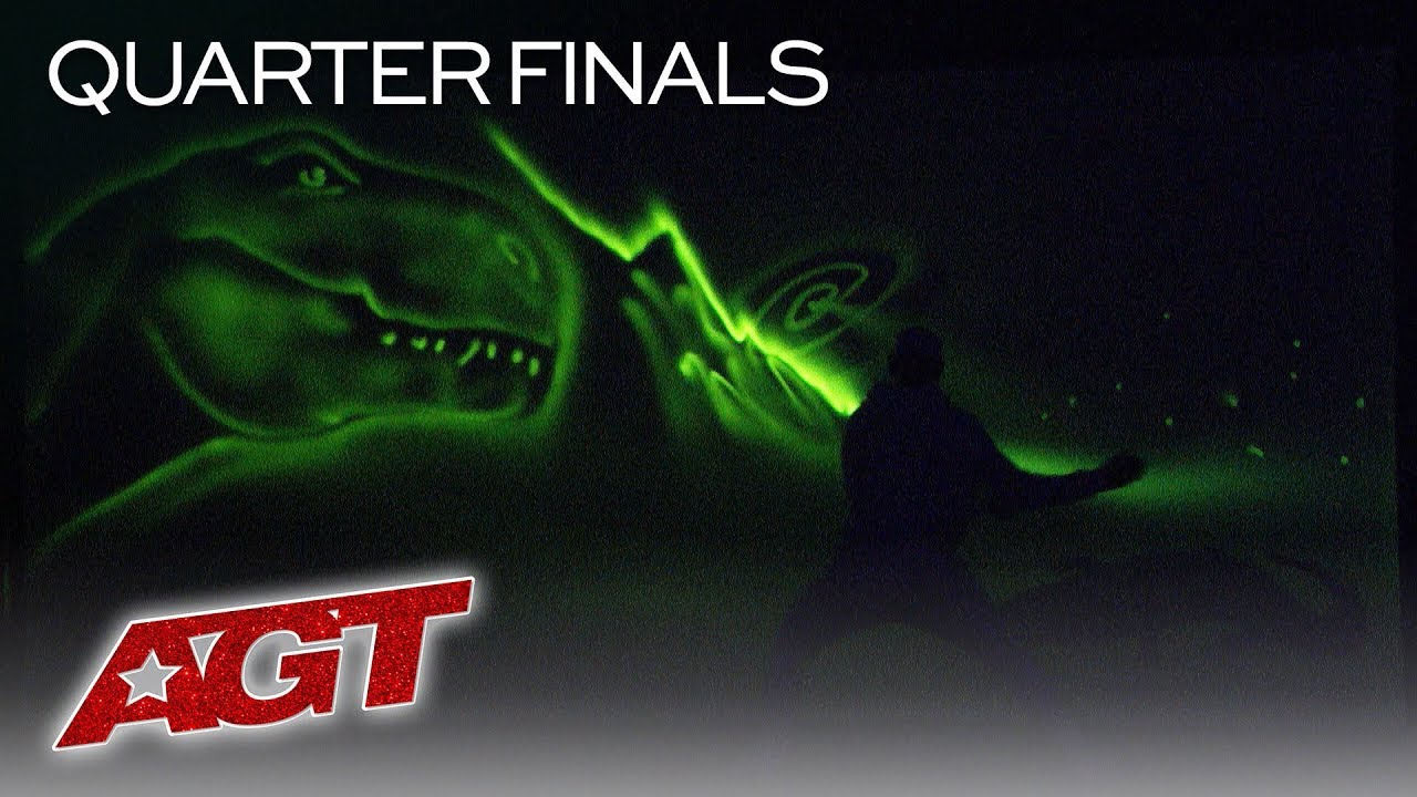 Light Artist Alex Dowis Paints Inspirational Story In COMPLETE DARKNESS! - America's Got Talent 2019 thumbnail
