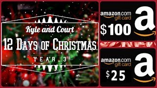 Day 4: $25 AMAZON GIFT CARD! DAY ONE Giveaway - KyleandCourt's 12 Days of Christmas Giveaway