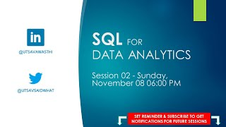 SQL for Data Analytics – Session 02 – Aggregation and Joins