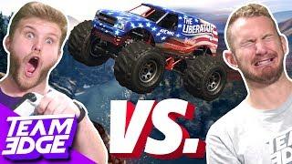 MONSTER TRUCK STUNT RACE CHALLENGE!   GTA 5