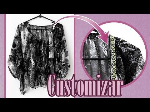Customiza Blusa ( Refashion - Costura Creativa )