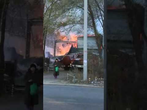 Пожар на складе пиротехники в Благовещенске