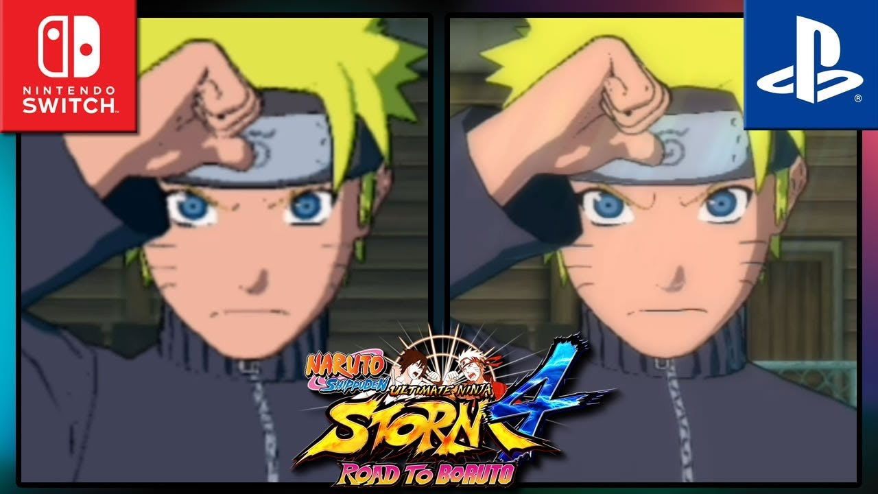 NARUTO SHIPPUDEN: Ultimate Ninja STORM 4 | Switch VS PS4 | Graphics Comparison & Frame Rate