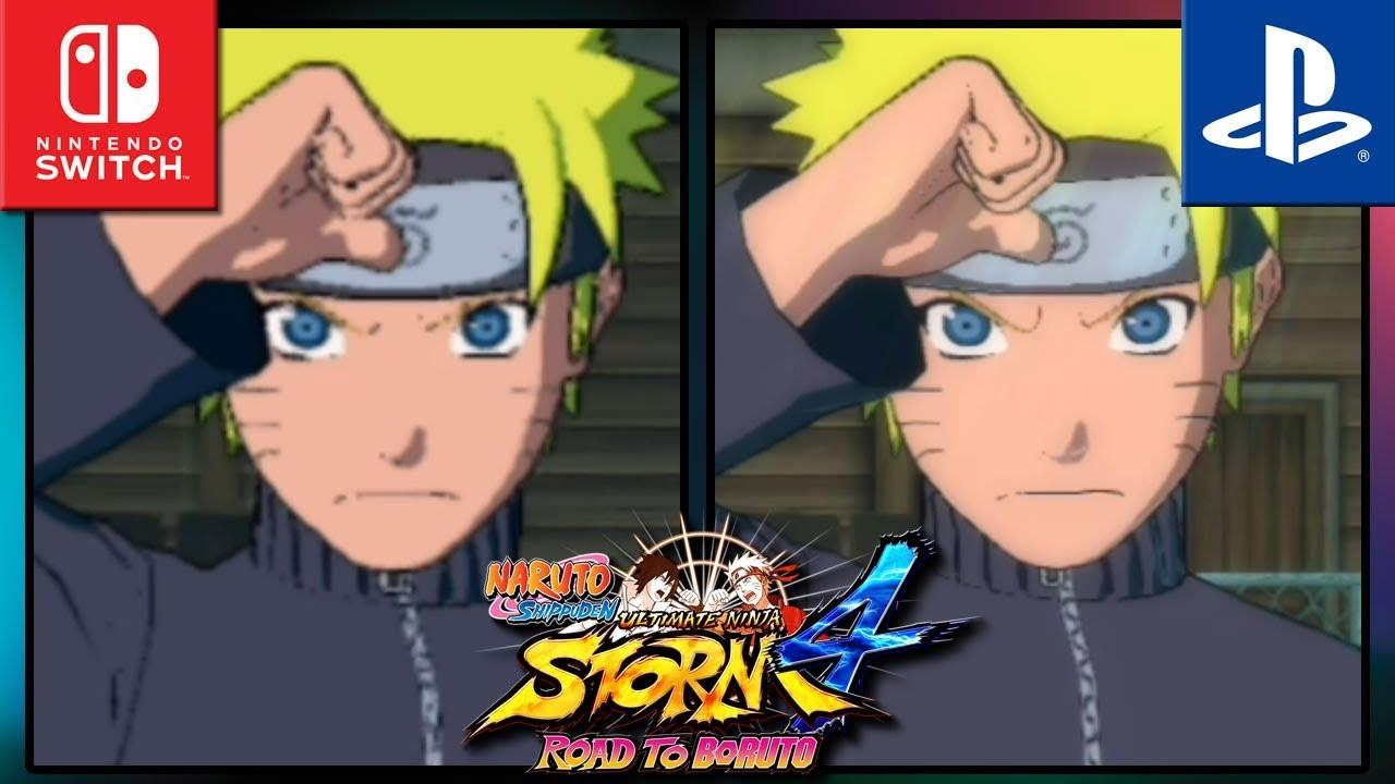 NARUTO SHIPPUDEN: Ultimate Ninja STORM 4 | Switch VS PS4 | Graphics Comparison & Frame Rate