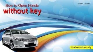 Unlock Honda Civic without Key