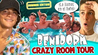ROOM TOUR hotel BENIDORM  MATEO se va de VACACIONES con sus amigos #LOSXOBIS  24h en la PLAYA
