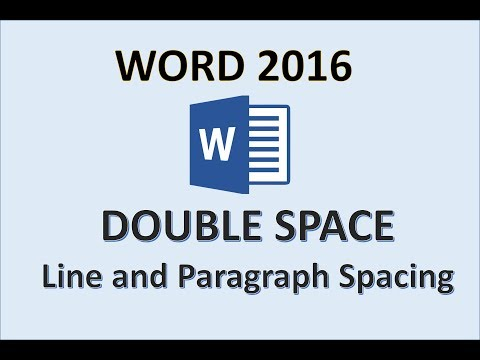 Word 2016 - Double Space - How To Put Double Line Spacing on Microsoft Paragraph - In MS Office 365