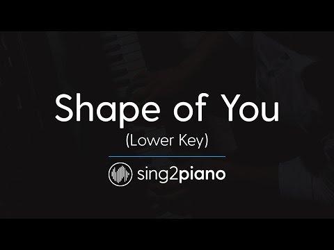 Shape of You (Lower Piano Karaoke) Ed Sheeran