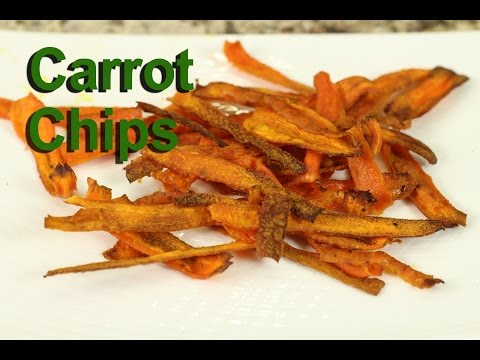 Video Carrot Chips - A Healthy Snack Recipe by Rockin Robin