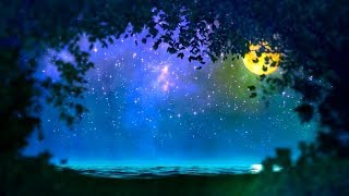 Beethoven Moonlight Sonata with Relaxing Nature Sounds Sleep Music! Ocean Sleeping Song! Night Light